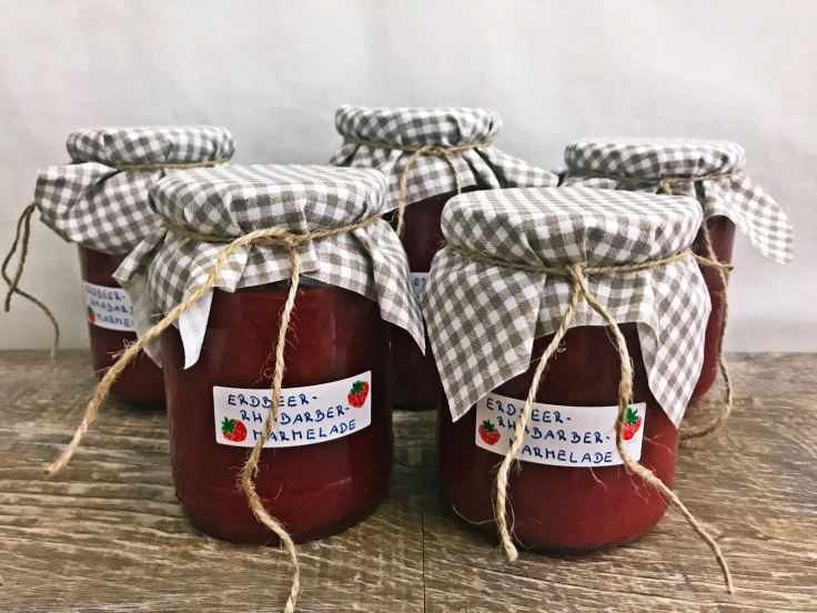 Erdbeer-Rhabarber-Marmelade (1)