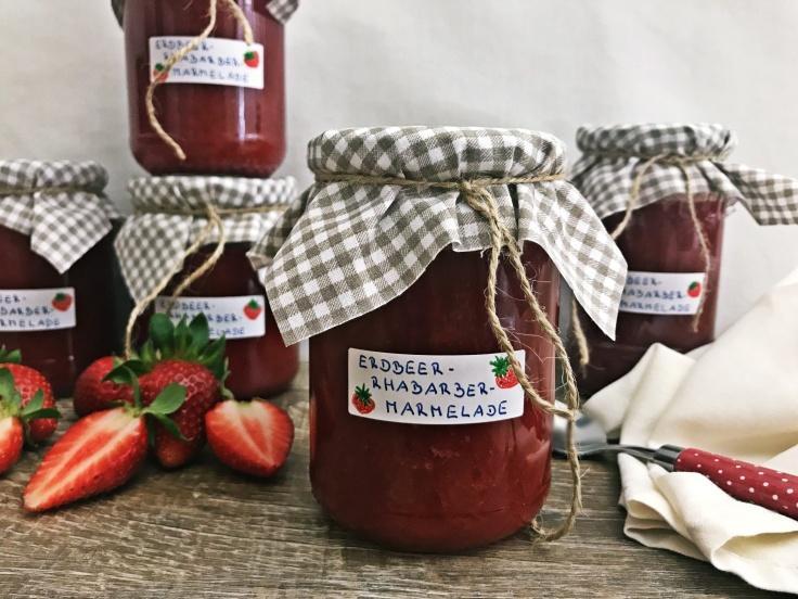 Erdbeer-Rhabarber-Marmelade (6)
