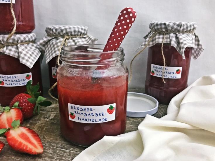Erdbeer-Rhabarber-Marmelade (9)