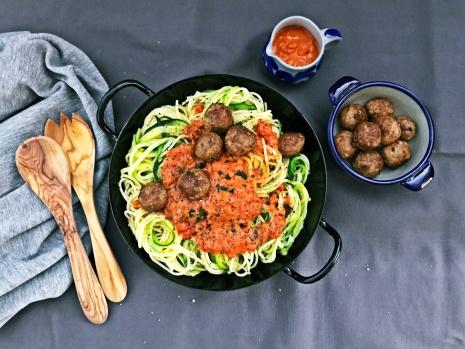 Spaghetti mit Fleischbaellchen (3)
