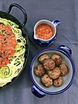 Spaghetti mit Fleischbaellchen (7)